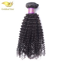 Wholesale Natural Hair Color Dyes - Unprocessed Monogolian kinky curly human hair extensions can be dyed Brazialian Peruvian Malaysian Indian Mongolian curly human hair