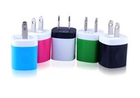 Wholesale Iphone 4s Charger Car Wall - Candy Colorful US Plug USB Power Wall Home Travel Charger Adapter Cell Phone Chargers For iPhone 6 6Plus 5 5S 4 4S Smartphone note 4