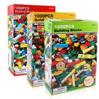 Wholesale Bulk Plastic Toys - 1000pcs Bricks Designer Creative Classic Brick DIY Building Blocks Educational Toys Bulk For Children Gift Compatible Lego