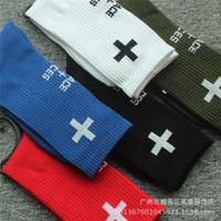 Wholesale Dead Fly - European and American hip-hop dead flying skateboard long barrel religious cross pure cotton socks