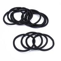 Wholesale Wholesale Fabric Hair Ties - 12pcs Women Elastic Hair Tie Band Rope Ring Ponytail Holder Nylon Black H6565 W0.5