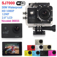 dalış kamerası toptan satış-YENI SJ7000 1080 P Full HD WiFi Eylem Kamera Su Geçirmez Spor Kamera 30 M Dalış 12MP Kask Kamera 2.0 LCD CMOS DV Araba DVR