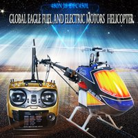 Wholesale Engine Rc Nitro - Free Shipping GlEagle 480N 9CH RC Nitro Helicopter RTF Set W hand carry case (9CH RC  DFC  60A ESC 15-Engine 180cc tank carbon fiber frame)