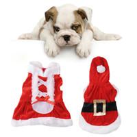 Wholesale 2015 New Santa Dog Costume Christmas Pet Clothes Winter Hoodie Coat Clothes for Dog Pet clothing