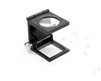 Wholesale Th Leather - HOT new TH-9005A Portable 28.8mm 8X Magnifier with White 2-LED Light Hot Rising stars +leather case+box