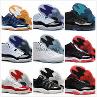 Retro 11 Chicago Gym Red 11s Midnight Navy Mens Scarpe da basket per uomo Donna Space Jam 45 Legend Blue Sneakers 2017 Con scatola