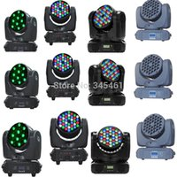 Wholesale-12pcs / lot LED Lighting Professional 36X3W Washer Luz de Palco RGBW 4IN1 LED Zoom Moving Head 108W AC110V-240V Party DJ Luz