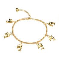 bracelets de cheville mignons pour les femmes achat en gros de-Mignon Pêché Pendentif Femme Chaînes de Cheville Nouvelle Mode Or Couleur Femmes Vintage Cheville Bijoux Bracelet KZ735