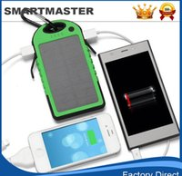 Wholesale Solar Energy Wholesale - 2015 ENERGY solar cell phone charger 5000m With 5 charging tips including iPad, iPhone, iPod, Samsung Galaxy tablets