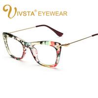 gafas para animales al por mayor-IVSTA Mariposa Mujeres Gafas Marco Gafas Gato Ojo de Gato Lentes Ópticas Gafas Transparentes Grado de Flor Grado Femenino