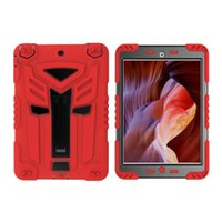 Pour Ipad 2 3 4 Mini mini4 comprimé dur hybride en plastique souple Slicone Armure antichoc Case Car Robot Ironman Defender Béquille Support Cover