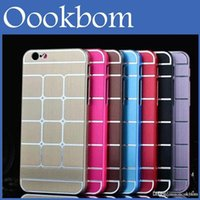 Nouveau design 10 couleurs PC Metal Case style Phone Case Cover Shell pour iPhone 6 4.7