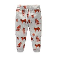 Wholesale Animal Print Pants For Kids - Boys clothing Sports pants Tiger prints Cotton Casual Trousers for kids Draw cord Boutique Children clothing 2017 Autumn Spring 2-7T