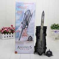 Neca Assassins Blade Pas Cher-NECA Assassins Creed 4 Noir Drapeau Pirate Lame Cachée Edward Kenway Cosplay