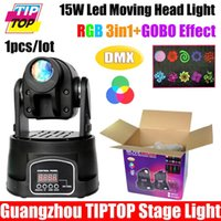Atacado-TIPTOP TP-L600 15W LED Moving Head Light DMX512 5/13 CH 90V-240V Disco Light 15W Mini Spot LED RGB DMX Moving Head iluminação pontual