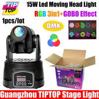 Gros-TIPTOP TP-L600 15W Moving Head Light DMX512 5/13 CH 90V-240V 15W Disco Light Mini Spot LED RVB DMX Moving Head spot Eclairage LED
