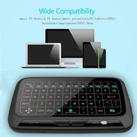air mouse keyboard H18+ 10M 2.4Ghz H18+ Backlit Mini Wireless Keyboard Full Screen No Alphabet H18 Wireless air mouse and keyboard Touchpad Combo Remote Control