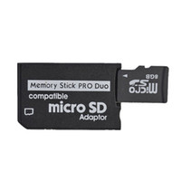 Wholesale memory stick micro sd adapter - Micro SD To MS Pro Duo Adapter Memory Stick Card Reader Wholesale 200pcs Free shipping