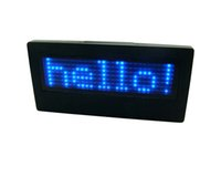 Wholesale Scrolling Led Screen - Blue Red White Yellow LED Name Badge 7*29 Dots Scrolling Screen Badge Business Card Tag Display Sign Rechargeable+Programmed FreeShipping