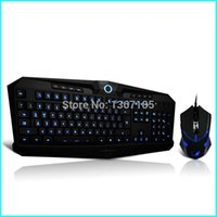 Atacado-Z-767 Wired retroiluminado Gaming Mouse e teclado Sete cores CF Backlight Dedicado jogo Luminous Gaming Keyboard Teclado Gamer