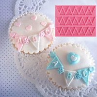 Brief Flag Bunting-Form-Kuchen-Silikon-Fondant Dekoration Sugar Muffin-Backen-Kuchen-Schokoladen-Form