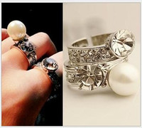Hot Statement Sexy Women Rhinestone Ring Luxurious Jewelry Party Daily Gift New Fashion Trendy Style for Wholesale