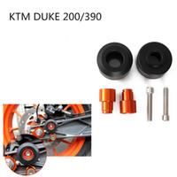 Wholesale Ktm Plastics - KTM motorcycle DUKE200   390 modified front and rear wheel drop ball   wheel insurance ball anti-drop plastic decorative ball