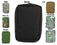 Wholesale Digi Camo - Tactical Molle Pouch Camo Airsoft Pouch Military First Aid Medical Bag Case For Men - Black Tan Green Digi WL Multicam ACU order<$18no track