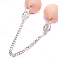 Wholesale Gadgets Sex - Nipple clamps Nipple clips Steel Clamps Chain BDSM Bondage Gadgets Sex Toys Adult Products for Female
