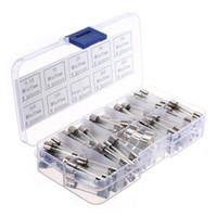 Wholesale Wholesale Glass Automotive Fuses - Wholesale-72pcs M6*30mm Glass Tube Fuse Assorted Kit 0.5 1 23 5 10 15 20 30 AMP