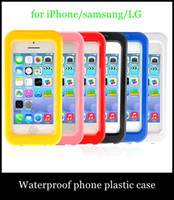Wholesale Durable Iphone5 - PC clear Waterproof phone cases Shockproof Dirt SnowProof Durable Case Covers for iPhone6 plus iphone5 samsung s3 4 5 note 3 LG G2 SCA030