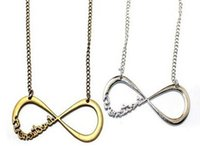 Wholesale Infinity Justin Bieber - 120PCS One Direction Infinity Necklaces Jewelry Alloy 1D Fans Torque Sweater Chain Justin Bieber Unlimited Pendant Necklace FREE SHIPPING