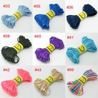 Wholesale Loose String Beads - 10Bundle 200M -apx.2mm Nylon Cord Satin Chinese Knotting String 28 Colors U-Pick For Shambhala Loose Beads Bracelet Jewelry DIY Beading Wire