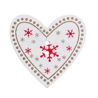 швейные кнопки бесплатная доставка оптовых-2016 Новый Стиль 50 шт. Белый Рождество сердце Pattern деревянные кнопки подходят швейные и записки Бесплатная доставка партии украшения