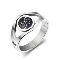 Wholesale pride stainless steel rings - Personalized Stainless Steel Silver Lesbian Pride Rings with Female Symbol Design