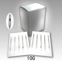 Wholesale Tattoo Piercing Equipment - Wholesale-100pcs Sterilized Disposable Stainless Steel Body Piercing Needles 10 Gauge 10G Tattoo equipment Free shipping