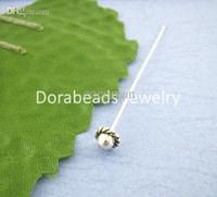 Wholesale Head Pins Tibetan Silver - Wholesale-30PCs Tibetan Silver 3D Hat Head Pin 55mm (B00404), 8seasons