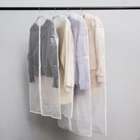 almacenamiento de abrigo al por mayor-2018 Barato Ropa cubierta de polvo transparente engrosada bolsa de polvo lavable abrigo chaqueta de polvo chaqueta de abrigo bolsa de almacenamiento