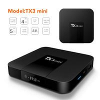mini caixa hdmi smart tv venda por atacado-Android 7.1 TV OTT Box Tx3 Mini Amlogic S905W Quad Core 2 GB 16 GB 4 K Streaming de Mídia Inteligente