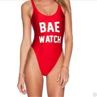 neueste sexy frauen bikini großhandel-Frauen Neueste Bikinis Red Sexy Bademode Frauen Bikini Bademode Brief Gedruckt Badeanzug 4 Farben