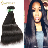 Wholesale Online Human Hair Extensions - Cambodian Virgin hair Weave Bundles Silk Silky Straight 1B Sew In Unprocessed Remy human hair extension Online Queenlike Silver 7A Grade