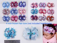 Wholesale Holiday Hairbows - wholesale 18pcs baby girl toddler 4 inch alligator clips Boutique grosgrain ribbon bows holiday hairbows kids girl 2041-2133