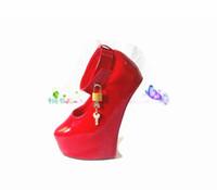 yeni bdsm oyunları toptan satış-Yeni ayakkabı kadın seks oyuncakları Unisex seksi BDSM sm oyun midilli hiçbir topuk fetiş uyluk yüksek esaret çizmeler At Nalı topuklu çizmeler ücretsiz kargo