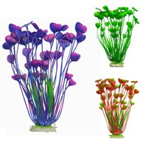 NOUVEAU Conception Plastique artificielle plantes d'aquarium Herbe pour fond d'aquarium Fish Tank Aquarium Ornement décoration