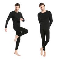 Wholesale Thermal Fashion Leggings - Fashion Men's Thermal Sexy Long Johns Long Sleeve Slim Male Underwear U-neck Gay Underpants Winter Knit Undershirt Leggings Run Set