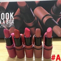 Wholesale lipstick new for sale - Group buy Frost Sexy lipstick HOT NEW M Makeup look in a box be sfnsational mini Lipsticks Frost Matte Lipstick g