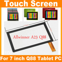 "Wholesale Q88 Touch Screen - Replacement 7"" Capacitive Touch Screen Digitizer Panel for 7 inch Allwinner A23 A33 Q8 Q88 Tablet PC JF-A7"