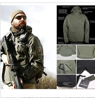Wholesale Tad V Coats - High quality Men's coat TAD Stealth Shark Skin Waterproof Military Outdoors Jacket Men Sport Softshell Hike Hunt Tactical Camouflage Army