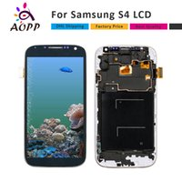 Wholesale Display Screen Galaxy S4 - Top Quality For Samsung Galaxy S4 i9500 i9505 i9515 i337 LCD Display Touch Digitizer Screen+Frame Assembly Replacement Parts
