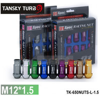 Wholesale Racing Lug Nuts - Tansky - D1 LIGHT WEIGHT WHEEL RACING LUG NUTS 1set unit M12*1.5,L :52mm (20pcs set) TK-650NUTS-L-1.5
